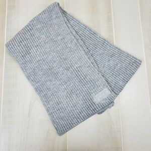 PINK Victoria's Secret Ribbed Scarf Gray NWT